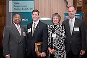 1766423rd Ohio University State Government Alumni Luncheon in Columbus...Dr. Roderick J. McDavis '70, President, Ohio University, Michael Adelman, Provost Kathy Krendl, Mark Weinberg