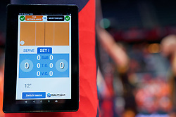 13-09-2019 NED: EC Volleyball 2019 Netherlands - Montenegro, Rotterdam<br /> First round group D Netherlands win 3-0 / Statistics referee iPad score
