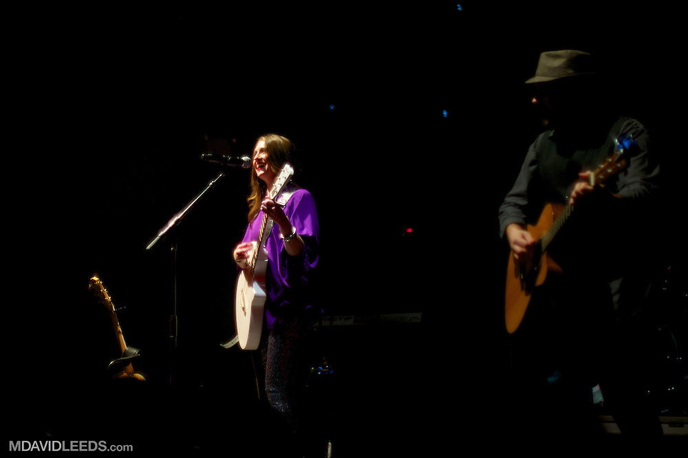 """Rachel Allyn and Warren Hibbert III as seen during their set at Brett Eldredge's """"Bring You Back"""" album release show at the Highline Ballroom on August 6, 2013 in New York City, New York.  Mandatory Credit:  Photo by MDAVIDLEEDS"""