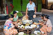 Cooks at Kha Khat Wain Kyaung Monastery Kitchen (Bago, Myanmar)