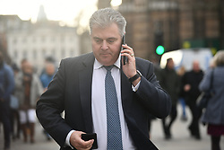 © Licensed to London News Pictures. 12/12/2018. London, UK. Conservative party chairman BRANDON LEWIS is seen in Westminster as Prime Minister Theresa May faces a vote of no confidence from her own party. Photo credit: Ben Cawthra/LNP