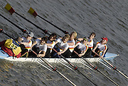 Chiswick. GREAT BRITAIN,  Tideway Scullers School 'B', approaching the start, from, Chiswick Bridge, during the 2007 Women's Head of the River Race,  raced over the Championship Course, [reverse] on the River Thames, London, on SAT 17.03.2007,  [Photo Peter Spurrier/Intersport Images]  [Mandatory Credit, Peter Spurier/ Intersport Images]. , Rowing Course: River Thames, Championship course, Putney to Mortlake 4.25 Miles,