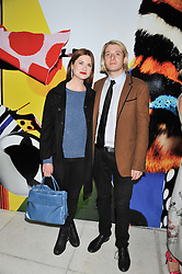 BONNIE WRIGHT and DOMINIC JONES at the Vogue Festival Party 2013 in association with Vertu held at the Queen Elizabeth Hall, Southbank Centre, London SE1 on 27th April 2013.