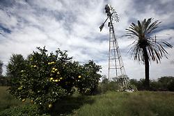 NAMIBIA MALTAHOEHE 19APR14 - Wind-powered water pump at the Hudup campsite near Maltahoehe, Namibia.<br /> <br /> <br /> <br /> jre/Photo by Jiri Rezac<br /> <br /> <br /> <br /> &copy; Jiri Rezac 2014