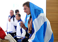 2018 Commonwealth Games - Team Scotland Homecoming - Heathrow Airport - 17 April 2018