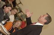 Senator Voinovich visiting & teaching political science class 4/01