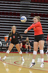 19 August 2017:  Kendal Meier during a college women's volleyball match Scrimmage of the Illinois State Redbirds at Redbird Arena in Normal IL (Photo by Alan Look)