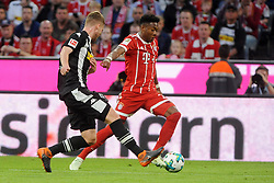 14.04.2018, Allianz Arena, Muenchen, GER, 1. FBL, FC Bayern Muenchen vs Borussia Moenchengladbach, 30. Runde, im Bild vl. Thorgan Hazard (Borussia Moenchengladbach #10) und David Alaba (FC Bayern Muenchen) // during the German Bundesliga 30th round match between FC Bayern Munich and Borussia Moenchengladbach at the Allianz Arena in Muenchen, Germany on 2018/04/14. EXPA Pictures &copy; 2018, PhotoCredit: EXPA/ Eibner-Pressefoto/ Stuetzle<br /> <br /> *****ATTENTION - OUT of GER*****
