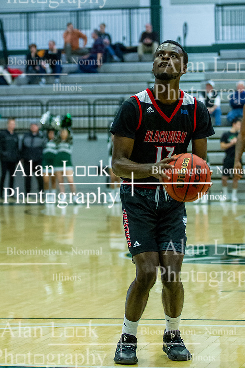 BLOOMINGTON, IL - November 12: Nigel Ferrell during a college basketball game between the IWU Titans  and the Blackburn Beavers on November 12 2019 at Shirk Center in Bloomington, IL. (Photo by Alan Look)