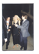 Mick Jagger, Ronnie Wood and Jerry Hall. Serpentine 30th anniversary Gala, 20th JUne 2000 in a sculpture tent on the Serpentine gallery lawn© Copyright Photograph by Dafydd Jones 66 Stockwell Park Rd. London SW9 0DA Tel 020 7733 0108 www.dafjones.com