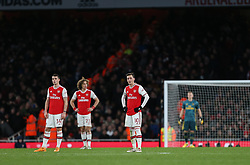 Mesut Ozil of Arsenal looks dejected after seeing John Fleck of Sheffield United score to make it 1-1 - Mandatory by-line: Arron Gent/JMP - 18/01/2020 - FOOTBALL - Emirates Stadium - London, England - Arsenal v Sheffield United - Premier League