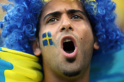 Fan of Sweden during the UEFA EURO 2008 Group D soccer match between Sweden and Russia at Stadion Tivoli NEU, on June 18,2008, in Innsbruck, Austria. Russia won 2:0. (Photo by Vid Ponikvar / Sportal Images)