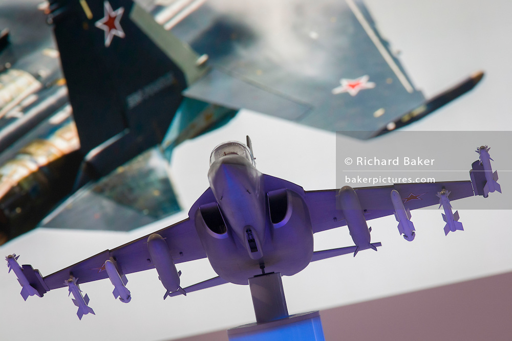 "Detail of images of Russian aviation at the Farnborough Air Show, England. Russia's deputy prime minister told his country's defence delegates to withdraw from the Farnborough International Airshow and return home after being snubbed by the British government over the Ukraine conflict. Dmitry Rogozin, who heads Russia's defence sector as deputy prime minister, said: ""I recommend our delegation to wind up its participation in the show and return home."""