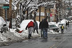 Snow storm in Jersey City/Hoboken. Jan 27 2011