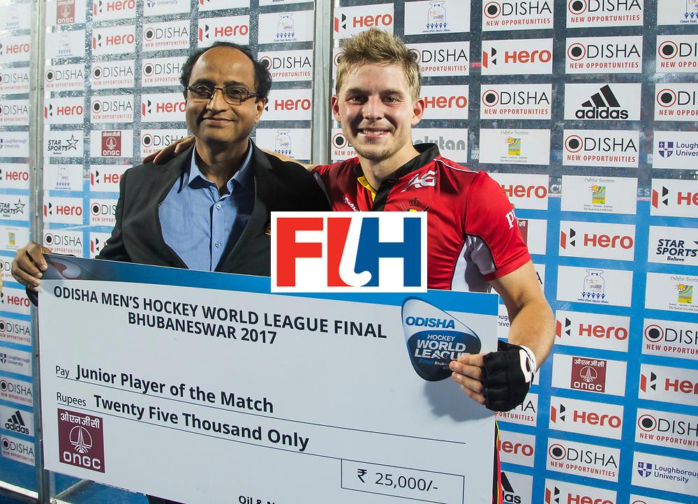 BHUBANESWAR - Victor Wegnez (Bel). Hockey World League finals , wedstrijd om de 5e plaats. Belgie-Spanje.  COPYRIGHT KOEN SUYK