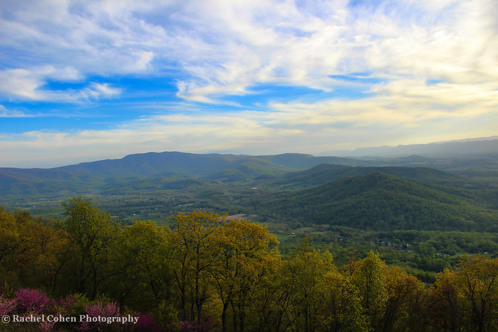 &quot;Chasing Light in Shenandoah&quot;<br /> <br /> Beautiful end to a spring day in the Blue Ridge Mountains of Virginia!!<br /> <br /> The Blue Ridge Mountains by Rachel Cohen