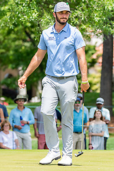 May 4, 2019 - Charlotte, NC, U.S. - CHARLOTTE, NC - MAY 04:  Max Homa reacts to a close putt from across the green during the third round of the Wells Fargo Championship at Quail Hollow on May 4, 2019 in Charlotte, NC. (Photo by William Howard/Icon Sportswire) (Credit Image: © William Howard/Icon SMI via ZUMA Press)