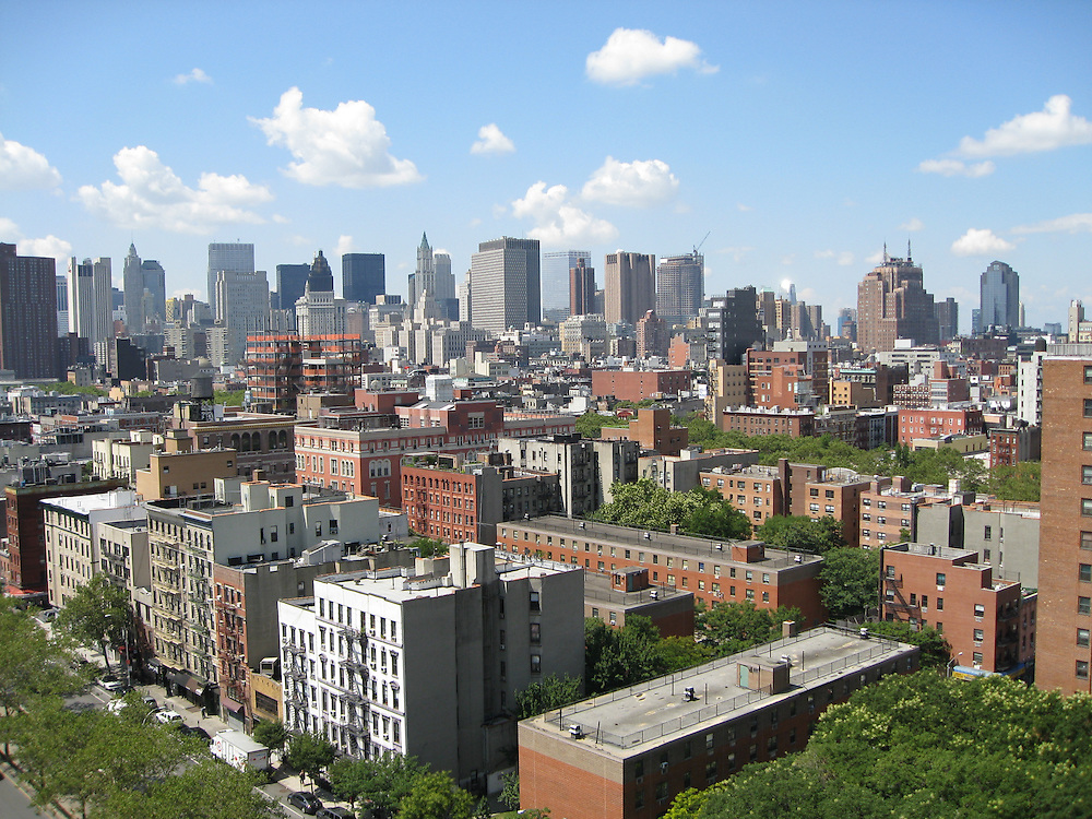 lower east side with downtown Manhattan in the distance