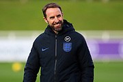 England manager Gareth Southgate during the England football team training session at St George's Park National Football Centre, Burton-Upon-Trent, United Kingdom on 13 November 2019.