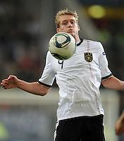 FUSSBALL  INTERNATIONAL  EM 2012  QUALIFIKATION  Deutschland - Belgien                              11.10.2011 Andre SCHUERRLE (Deutschland) Einzelaktion am Ball