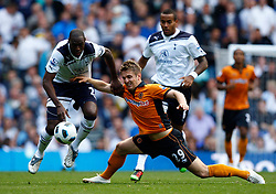 18.09.2010, White Hart Lane, London, ENG, PL, Tottenham Hotspur vs Wolverhampton Wanderers, im Bild Kevin Doyle of Wolverhampton Wanderers holds of Tottenham's Ledley King. EXPA Pictures © 2010, PhotoCredit: EXPA/ IPS/ Kieran Galvin +++++ ATTENTION - OUT OF ENGLAND/UK +++++ / SPORTIDA PHOTO AGENCY