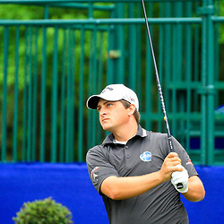 May 2, 2016; Avondale, LA, USA; Brian Stuard tees off from the tenth hole during the continuation of the third round of the 2016 Zurich Classic of New Orleans at TPC Louisiana. The tournament has been shortened to 54 holes due to weather delays throughout the week. Mandatory Credit: Derick E. Hingle-USA TODAY Sports