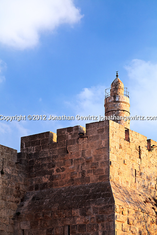The Citadel of David in Jerusalem's Old City. WATERMARKS WILL NOT APPEAR ON PRINTS OR LICENSED IMAGES.