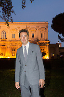 ROME, ITALY - 3 JUNE 2015: Film director Paolo Sorrentino pose for a portrait at the McKim Medal Gala honouring Carlo Petrini and Paolo Sorrentino at the American Academy  in Rome, Italy, on June 3rd 2015.