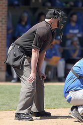 11 April 2015:  Steve Jones during an NCAA division 3 College Conference of Illinois and Wisconsin (CCIW) Pay in Baseball game during the Conference Championship series between the Millikin Big Blue and the Illinois Wesleyan Titans at Jack Horenberger Stadium, Bloomington IL