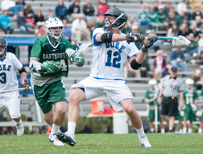March 20 2011:Duke midfielder Justin Turri (12) gets ready to let loose a shot.