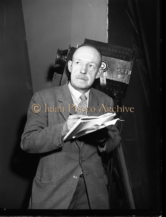 Arthur Cloney, Stage Manager at Mullingar Choral Society.28/11/1956
