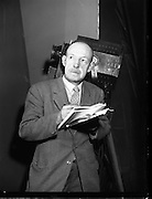 Arthur Cloney, Stage Manager at Mullingar Choral Society.28/11/1956