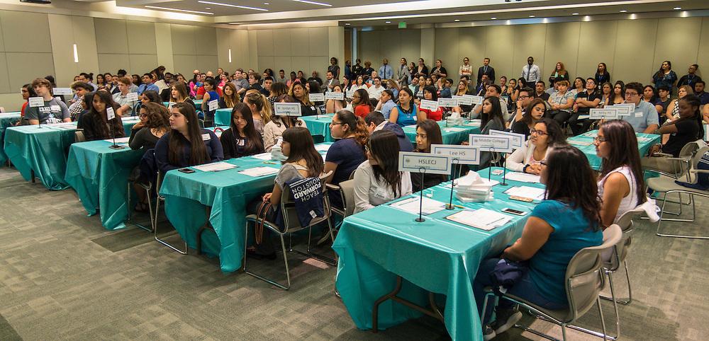 Teach Forward Houston signing ceremony, May 3, 2016.