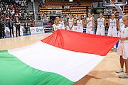 DESCRIZIONE : Bologna Qualificazione Eurobasket Women 2009 Italia Polonia <br /> GIOCATORE : Team Italia Inno Nazionale <br /> SQUADRA : Nazionale Italia Donne <br /> EVENTO : Raduno Collegiale Nazionale Femminile<br /> GARA : Italia Polonia Italy Poland <br /> DATA : 30/08/2008 <br /> CATEGORIA :  <br /> SPORT : Pallacanestro <br /> AUTORE : Agenzia Ciamillo-Castoria/M.Marchi <br /> Galleria : Fip Nazionali 2008 <br /> Fotonotizia : Bologna Qualificazione Eurobasket Women 2009 Italia Polonia <br /> Predefinita :