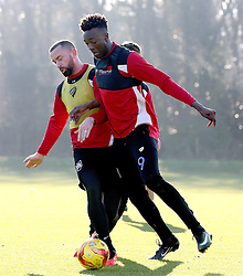 Tammy Abraham of Bristol City and Aaron Wilbraham of Bristol City takes part in training - Mandatory by-line: Robbie Stephenson/JMP - 19/01/2017 - FOOTBALL - Bristol City Training Ground - Bristol, England - Bristol City Training
