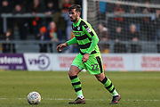 Forest Green Rovers Chris Clements(22) on the ball during the EFL Sky Bet League 2 match between Barnet and Forest Green Rovers at The Hive Stadium, London, England on 7 April 2018. Picture by Shane Healey.