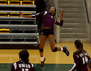 as UMES defeats Norfolk State 3 - 0 in volleyball at Joseph Echols Hall on the campus of Norfolk State University in Norfolk, Virginia.  10/16/11  (Photo by Mark W. Sutton)