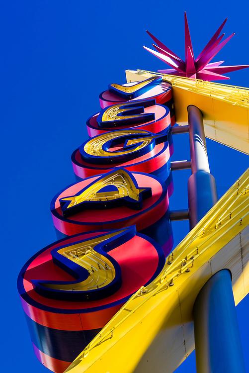Vegas neon Sign, Downtown Las Vegas, Nevada USA.,