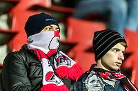 ALKMAAR - 25-01-2017, AZ - sc Heerenveen, AFAS Stadion, 1-0, supporter, winter, koud.