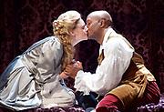 Queen Anne by Helen Edmundson <br /> Royal Shakespeare Company Production <br /> directed by Natalie Abrahami <br /> at the Theatre Royal Haymarket, &nbsp;<br /> London, Great Britain <br /> 6th July 2017 <br /> Press photocall <br /> <br /> <br /> &nbsp;<br /> Romola Garai as Sarah Churchill<br /> Chu Omambala as John Churchill/Marlborough<br /> <br /> <br /> Photograph by Elliott Franks <br /> Image licensed to Elliott Franks Photography Services