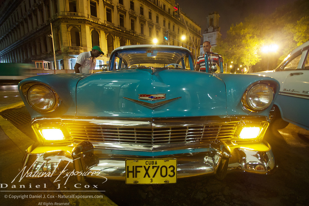 Vintage Bel Air Chevy on the streets of Havana, Cuba.
