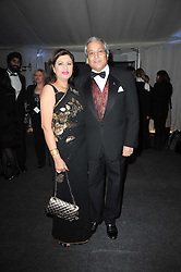 Dr & Mrs Rami Ranger two times winner of The Queen's Award for Export Achievement at the Collars & Coats Gala Ball celebrating 150 years of Battersea Dogs & Cats Home held at Battersea Power Station, London on 25th November 2010.