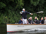 Henley Royal Regatta, Henley on Thames, Oxfordshire, 28 June - 2 July 2017.  Wednesday  09:51:21   28/06/2017  [Mandatory Credit/Intersport Images]<br /> <br /> Rowing, Henley Reach, Henley Royal Regatta.<br /> <br /> Sir Matthew Pinsent, CBE, Umpire