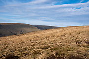 Landscape view across the valley from Glyn Tarell hills in the Brecon Beacons National Park, Wales, Powys, United Kingdom. The Brecon Beacons are a hill and mountain range in South Wales. The National Park was established in 1957 due to the spectacular landscape which is rich in natural beauty.  (photo by Andrew Aitchison / In pictures via Getty Images)