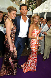 Left to right, HOFIT GOLAN, ALEX MCLEAN and GOLOKA BOLTE at theThe Summer Ball in Berkeley Square , Londin W1 in aid of the Prince's Trust on 6th July 2006.<br />