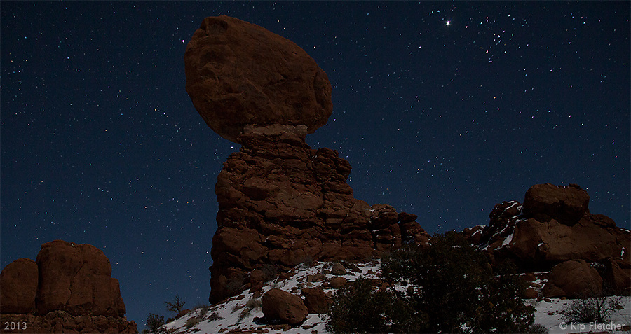 MoonShadow III. Balanced Rock, Arches National Park, Utah - 12/19/12. <br />