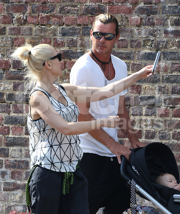 Gwen Stefani and Gavin Rossdale and their three boys Kingston Rossdale, Zuma Nesta Rock Rossdale and Apollo Bowie Flynn Rossdale stroll in Camden Lock, London, UK. 23/07/2014<br /> BYLINE MUST READ : GOTCHAIMAGES.COM<br /> <br /> Copyright by &copy; Gotcha Images Ltd. All rights reserved.<br /> Usage of this image is conditional upon the acceptance <br /> of Gotcha Images Ltd, terms and conditions available at<br /> www.gotchaimages.com