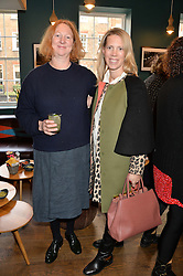 Left to right, MARGOT HENDERSON and MARSHA MONRO at a ladies lunch hosted by Thomasina Miers was held at her restaurant Wahaca, 19-23 Charlotte Street, London W1 on 10th January 2014.