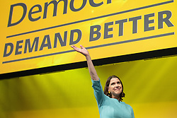 © Licensed to London News Pictures . 17/09/2019. Bournemouth, UK. Lib Dem leader JO SWINSON delivers the Leader's Speech on the final day of the Liberal Democrat Party Conference at the Bournemouth International Centre . Photo credit: Joel Goodman/LNP