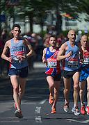 London. United Kingdom. 2014 London Marathon.  Narrow Street Limehouse, East London. Athletics 11:26:18  Sunday  13/04/2014  [Mandatory Credit; Peter SPURRIER/ Intersport Images],